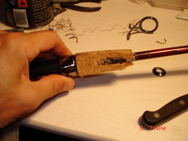 Удобная и привлекательная ручка удочки своими руками